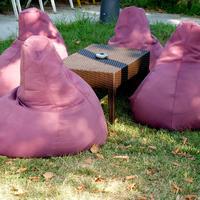 Бинбэги, модули, футоны. Необычная дачная мебель из ткани