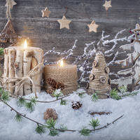 Новогодние поделки и декор в экостиле