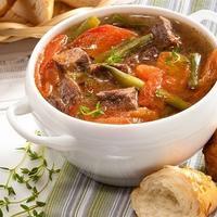 Наваристый суп-гуляш на крепком бульоне