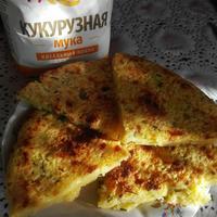 Мчади с сыром и зеленью