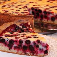 Тарт с ягодами на творожном тесте без яиц