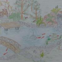 Пруд и зона релакса вокруг пруда