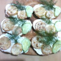 Бутерброды закусочные из кабачков