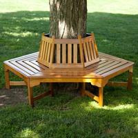 Хочу скамейку вокруг яблони. Не вредно ли это для дерева и как её построить?