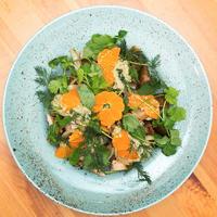 Самый лучший новогодний салат с мандаринами