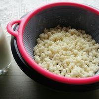 Молочный гриб, который мы добавляем в козье молоко и получаем очень полезный кефир