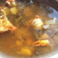 Суп с раковыми шейками