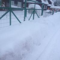 Испытание  снегом