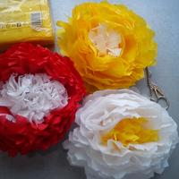 Цветы на ёлку и не только... из салфеток