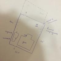 Помогите с расположением котельни, бани и других пристроек на участке с домом в глубине