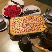 Тарт из свежей малины с лавандой и белым шоколадом