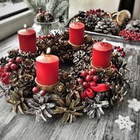 Очень красивый рождественский венок со свечами. Мастер-класс к празднику