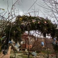 Новогодние украшения для любимого сада