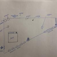 Помогите распланировать дачный участок треугольной формы