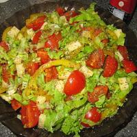 Салат и спагетти с грибами. Ужин с итальянским акцентом