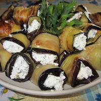 Рулетики из баклажанов с творожной начинкой - нежная закуска