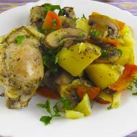 """Ужин без возни """"Хозяйка отдыхает"""": мясо с картофелем и грибами в рукаве!"""