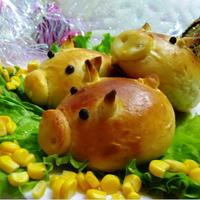 Гламурные свинки-булочки на Новый год 2019