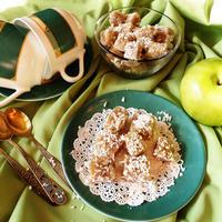 Рахат-лукум из яблок с грецкими орехами