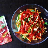 """Огурцы """"Ча"""" - корейский салат на нашем столе"""