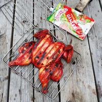 Курица барбекю в багровых тонах