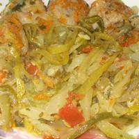 Кабачковые спагетти с куриным фаршем