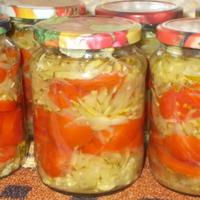 Томаты и кабачки - салат на зиму