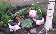 Вот такие поросята живут у меня в саду.