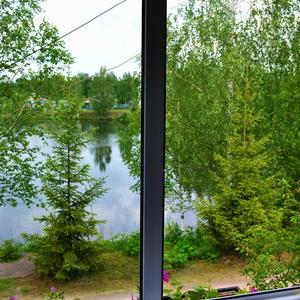Дачный пейзаж - вид из окна