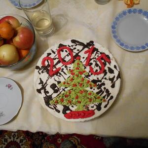 Новогодний тортик своими руками
