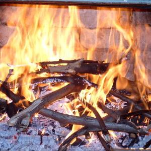 Огонь в камине... антистресс...
