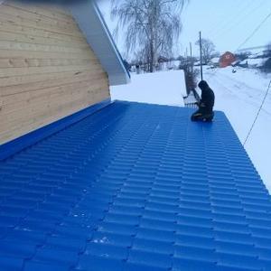 Накрываем крышу. Делаем террасу