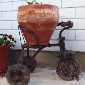 Детский старый велосипед превращаем в арт-объект