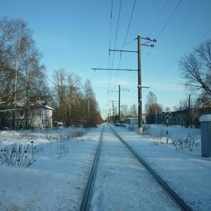 В поселке зимой