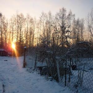 Зимний, морозный вечер