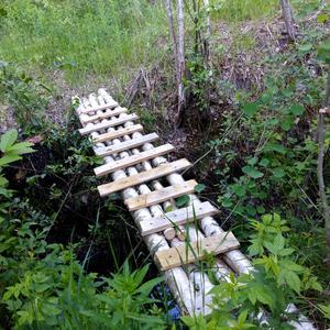 Освоение участка начинается с мостика