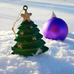 С елочки игрушки на снежок упали, это сороки на ветках баловАлись