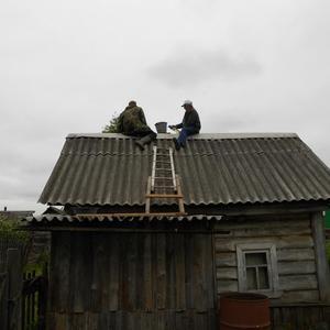 Ремонт крыши на бане