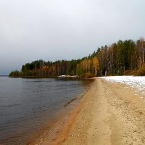 Осеннй пейзаж с первым снегом