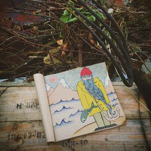 Убирала листву, а потом рисовала!