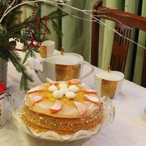 Чаепитие с лимонным пирогом