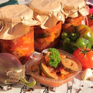 Рататуй с баклажанами и кабачком (любимый салат нашего 90 летнего дедушки)