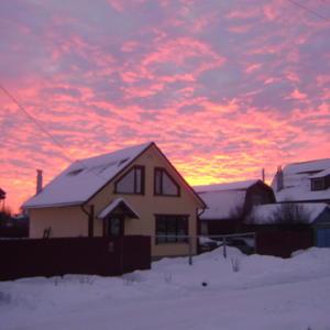 Закат над Шуей 20.12.2016