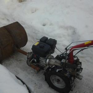 Доработка мотоблока-снегоуборщик и погрузчик