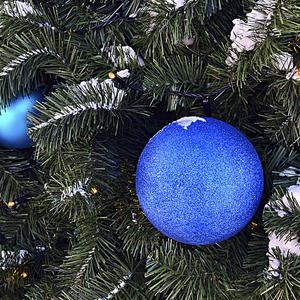 Синий шарик на ёлочке висит - и снег ему не страшен, и холод не страшит...