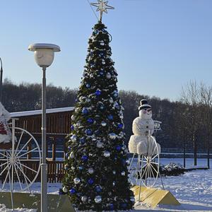 На улице ёлка стоит, дед Мороз её сторожит...