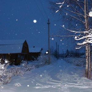 Дачный посёлок пушистой зимой...