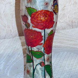 Вазочка ручной работы для цветов из пивного бокала...