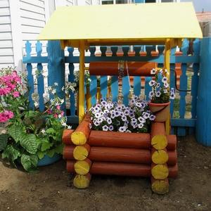 Декоративный колодец - клумба