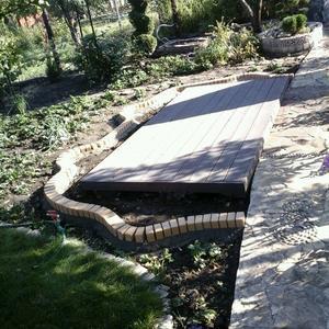Площадка для садовых качелей